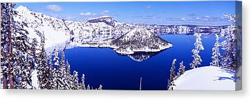 Wizard Island Canvas Print - Usa, Oregon, Crater Lake National Park by Panoramic Images