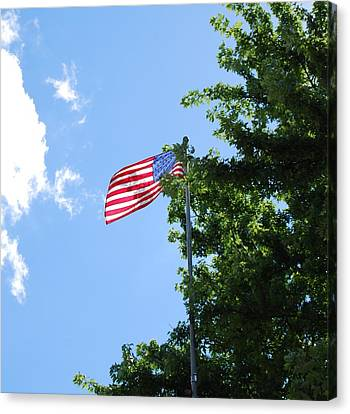 Canvas Print featuring the photograph USA by Ramona Whiteaker