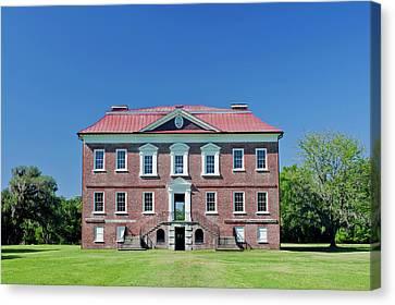 Antebellum Canvas Print - Usa, Sc, Charleston, Drayton Hall, 18th by Rob Tilley