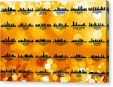 Usa Skylines 3 Canvas Print by Angelina Vick