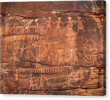 Usa, Southwest, Indian Petroglyphs Canvas Print by Christopher Talbot Frank