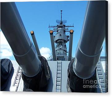 Usa Strength Uss Missouri Canvas Print