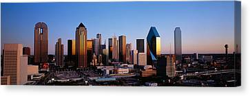 Usa, Texas, Dallas, Sunrise Canvas Print by Panoramic Images
