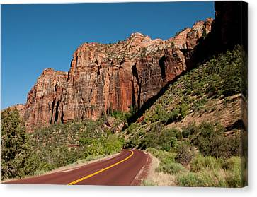 Usa Utah, Great Arch Of Zion In Zion Canvas Print