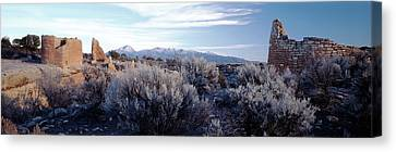 Usa, Utah, Ruins At Hovenweep National Canvas Print by Scott T. Smith