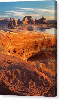 Usa, Utah Weathering Pit Ridge At Lake Canvas Print by Jaynes Gallery
