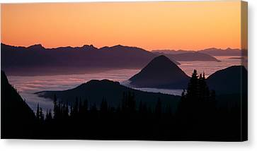 Mysterious Sunset Canvas Print - Usa, Washington, Mount Rainier National by Panoramic Images