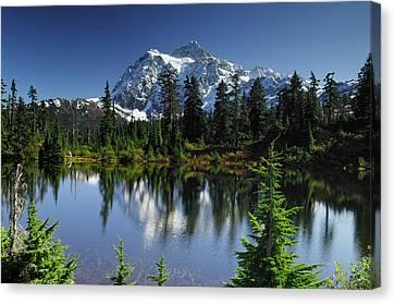 Usa, Washington, Mount Shuksan, Mount Canvas Print by Gerry Reynolds