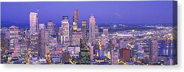 Wa Canvas Print - Usa, Washington, Seattle, Cityscape by Panoramic Images