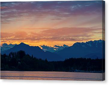 Usa, Washington State, Kitsap County Canvas Print by Trish Drury