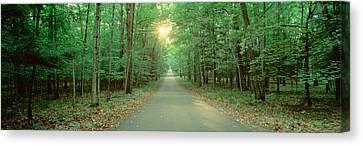 Usa, Wisconsin, Door County, Road Canvas Print