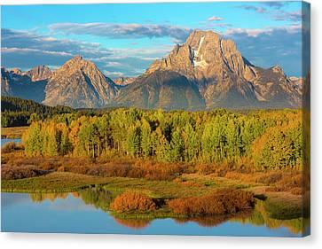 Usa, Wyoming, Grand Teton National Park Canvas Print by Jaynes Gallery