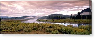 Usa, Wyoming, Yellowstone Park, Snake Canvas Print