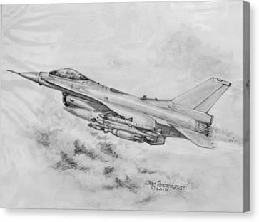 Demo Canvas Print - Usaf F-16 Fighting Falcon by Jim Hubbard