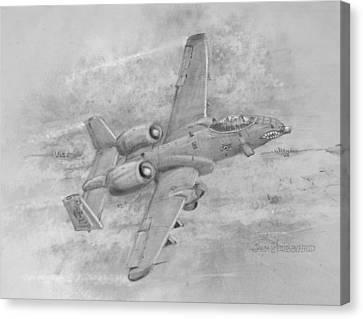 Usaf Fairchild-republic  A-10 Warthog Canvas Print
