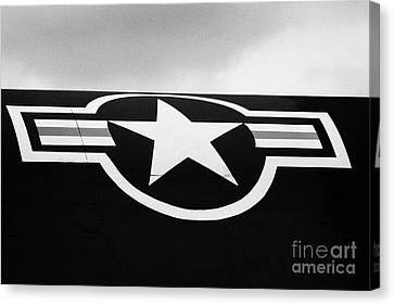 Usaf Star And Bars Insignia On A A12 Blackbird At The Intrepid Sea Air Space Museum  Canvas Print by Joe Fox