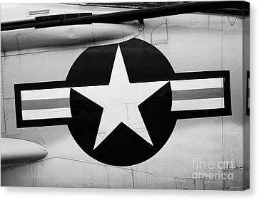 Usaf Star And Bars Insignia On A Mcdonnell F3b F3 Demon  Canvas Print
