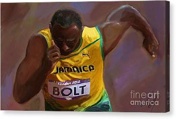 Usain Bolt 2012 Olympics Canvas Print