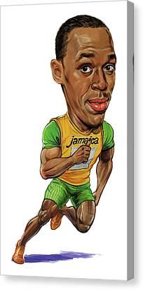 Sprinter Canvas Print - Usain Bolt by Art