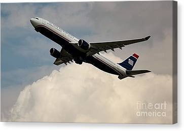 Usair Airbus Canvas Print by Rene Triay Photography