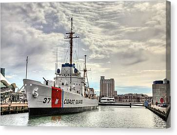 Warship Canvas Print - Uscg Cutter Taney by JC Findley
