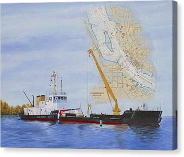 Ports Canvas Print - Uscgc Mobile Bay  by Bethany Kirwen