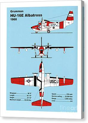 U.s.coast Guard Gruman Hu-16e Albatross Canvas Print by Jerry McElroy - Public Domain Image