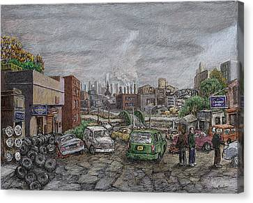 Used Tires Canvas Print