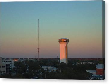 Usf Watertower Canvas Print by Ronald Chacon