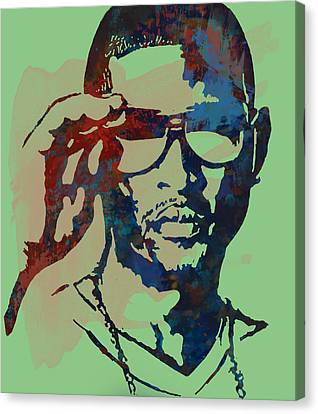 Usher Raymond Iv  - Stylised Pop Art Sketch Poster Canvas Print