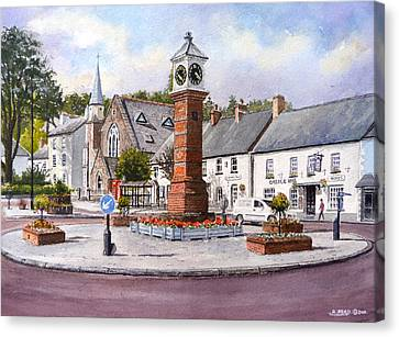 Usk In Bloom Canvas Print by Andrew Read