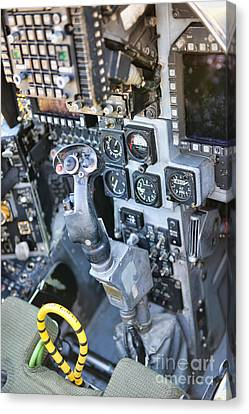 Usmc Av-8b Harrier Cockpit Canvas Print by Olga Hamilton