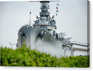 Canvas Print featuring the photograph Uss Alabama 2 by Susan  McMenamin
