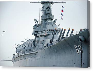 Canvas Print featuring the photograph Uss Alabama 3 by Susan  McMenamin