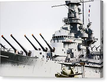 Canvas Print featuring the photograph Uss Alabama by Susan  McMenamin