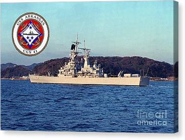 Uss Arkansas Canvas Print by Baltzgar