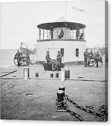 Uss Catskill Canvas Print by Library Of Congress