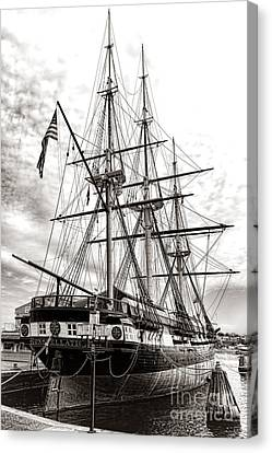 Uss Constellation Canvas Print by Olivier Le Queinec