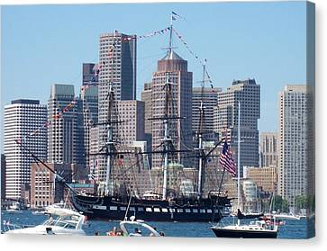 Uss Constitution Canvas Print by Catherine Gagne