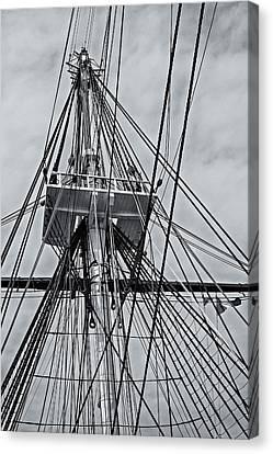Uss Constitution Mast Canvas Print by Susan Candelario