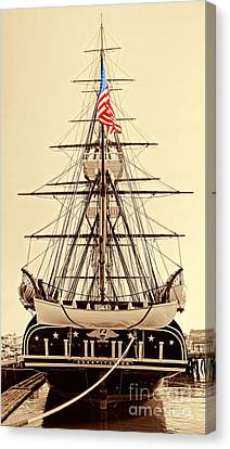 Uss Constitution Canvas Print by Nigel Fletcher-Jones