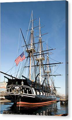Cannon aboard deck of USS Constitution frigate 1910 Photo Print