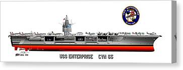 Uss Enterprise Cvn 65 1975- 1981 Canvas Print by George Bieda