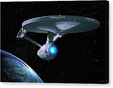 Uss Enterprise Canvas Print by Paul Tagliamonte