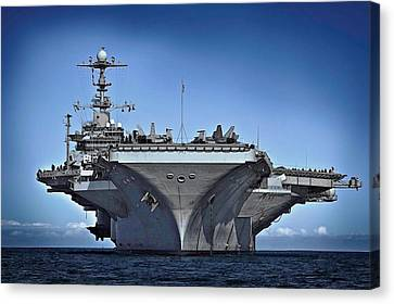 Uss George Washington Canvas Print