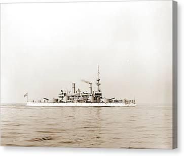 U.s.s. Indiana, Indiana Battleship, Battleships Canvas Print