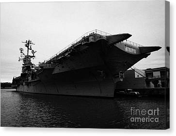 Uss Intrepid Aircraft Carrier At The Intrepid Sea Air Space Museum New York Canvas Print by Joe Fox
