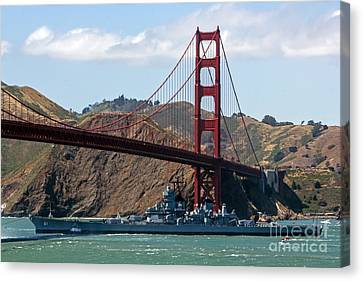 U.s.s. Iowa Up Close Canvas Print