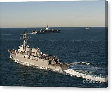 Uss James E. Williams Is Underway Canvas Print by Stocktrek Images