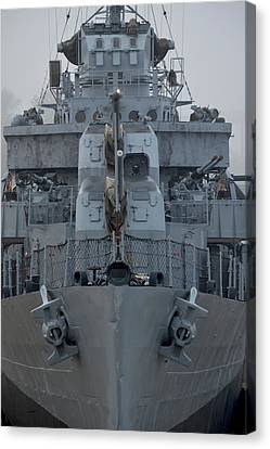 Uss Kidd Dd 661 Front View Canvas Print by Maggy Marsh